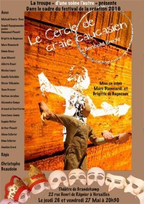 """Le Festival de la création 2016 avec Mme de Bagneaux, discussion autour du """"Cercle de Craie Caucasien"""""""